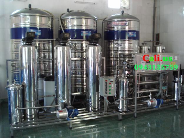 dây chuyền lọc nước đóng bình 1000l/h