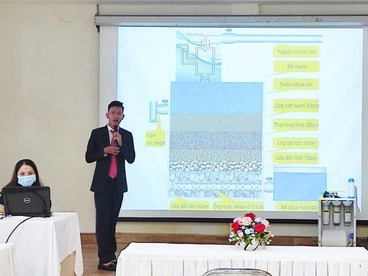 Công nghệ spray water vào hệ thống lọc nước đóng bình